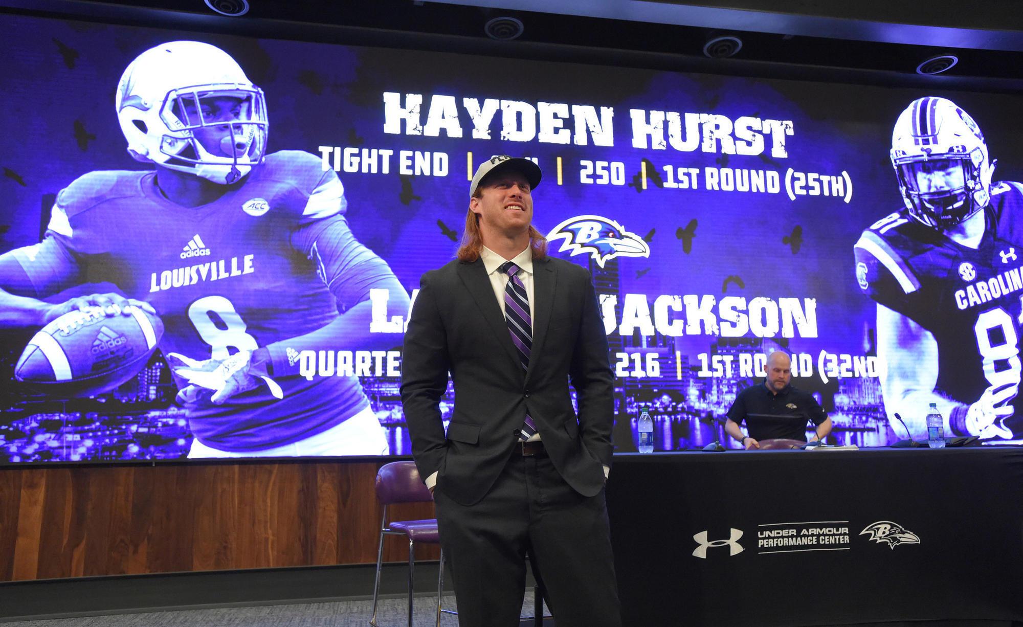 Ravens Sign hayden hurst