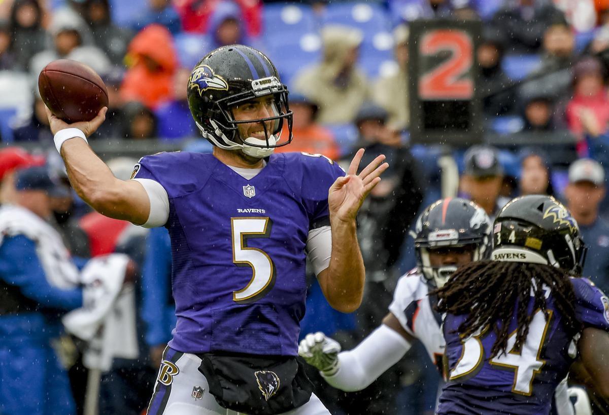 Joe Flacco Hip Injury Ravens Lamar Jackson