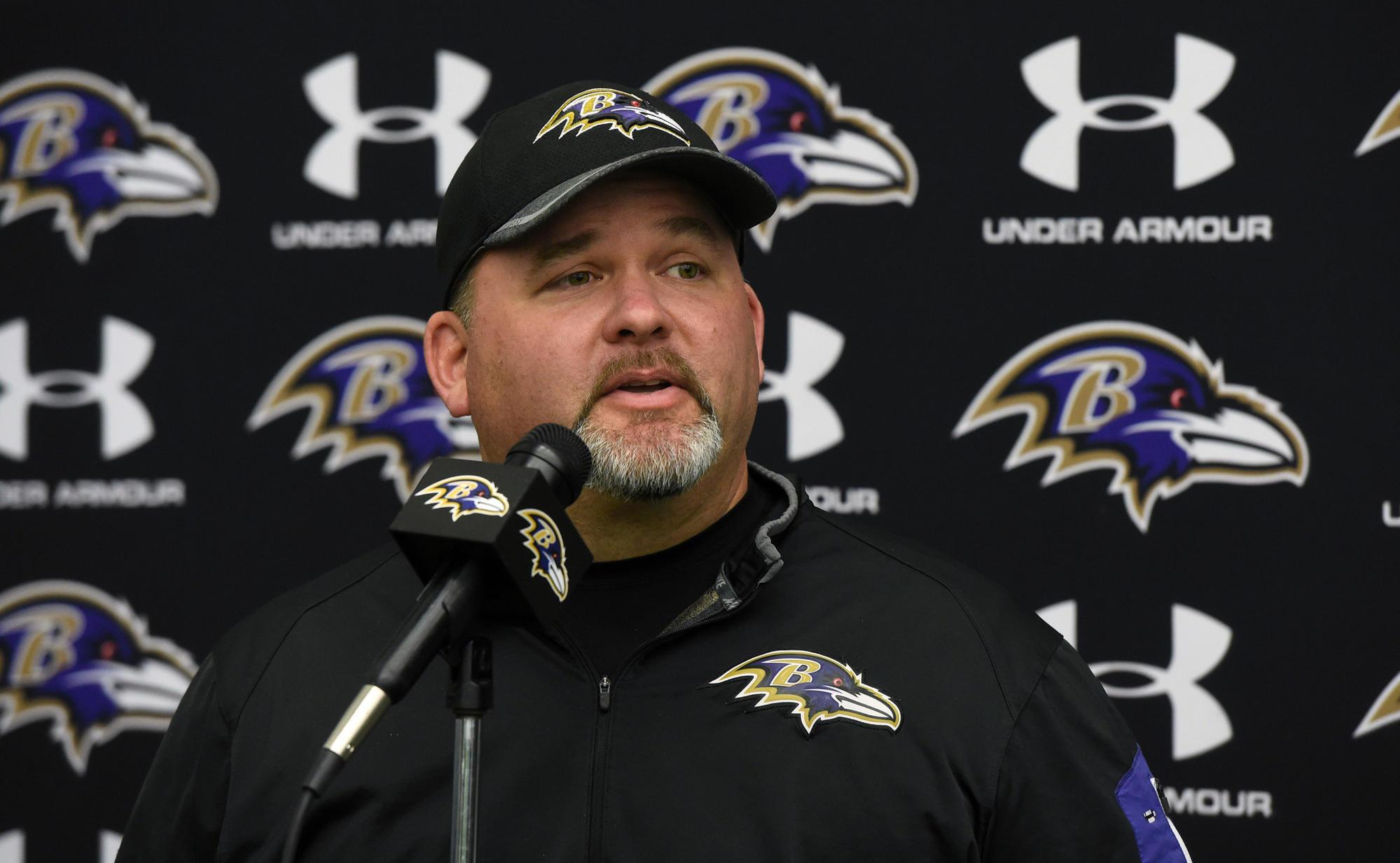 Greg Roman Ravens Offensive Coordinator Marty Mornhinweg