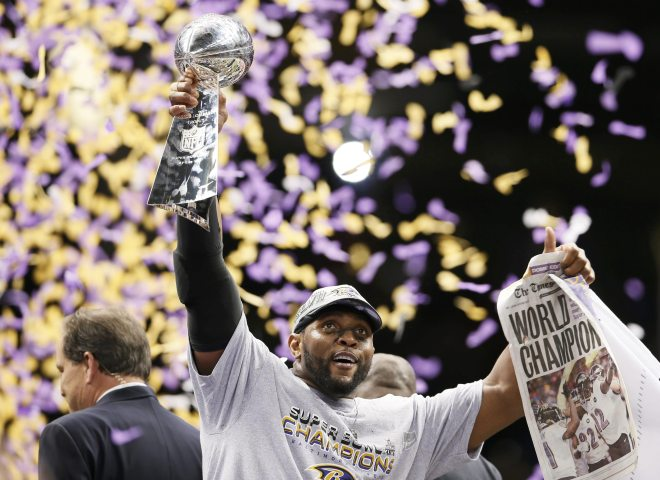 Baltimore Ravens Ray Lewis Super Bowl XLVII